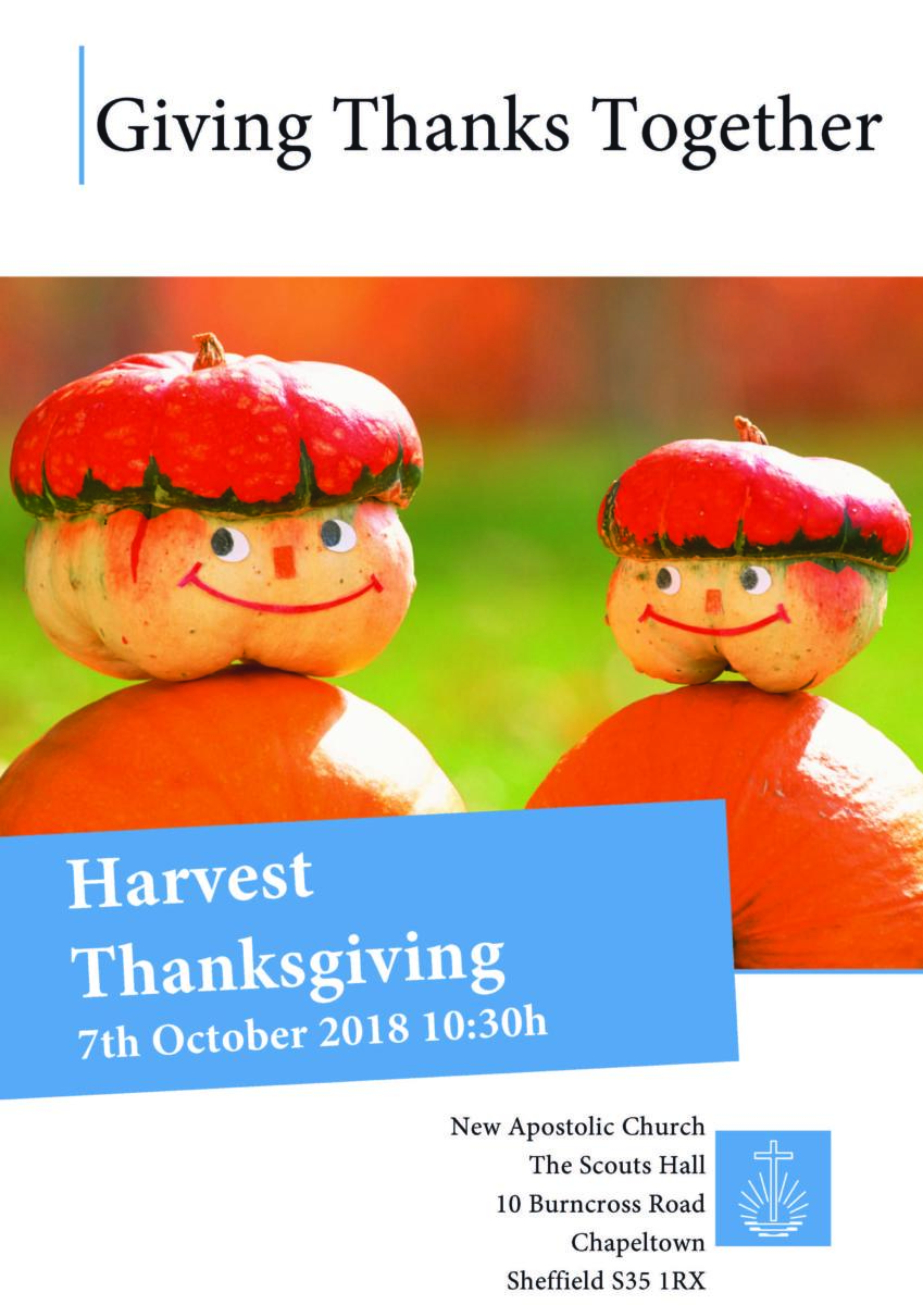 Harvest Thanksgiving Shefield