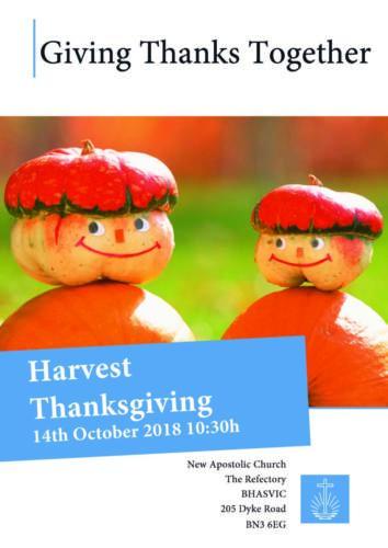 Harvest Thanksgiving Brighton