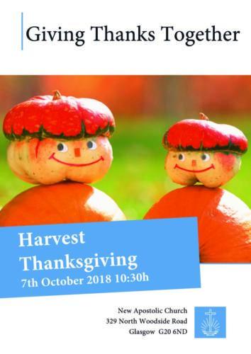 Harvest Thanksgiving Glasgow