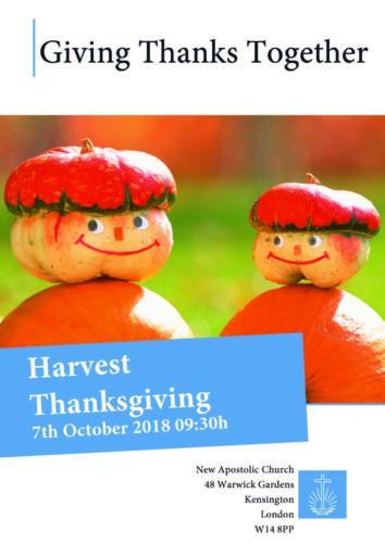 Harvest Thanksgiving London Central
