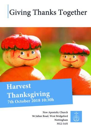 Harvest Thanksgiving Nottingham