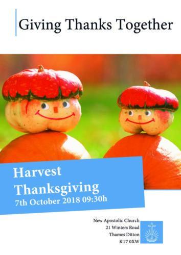 Harvest Thanksgiving Thames Ditton